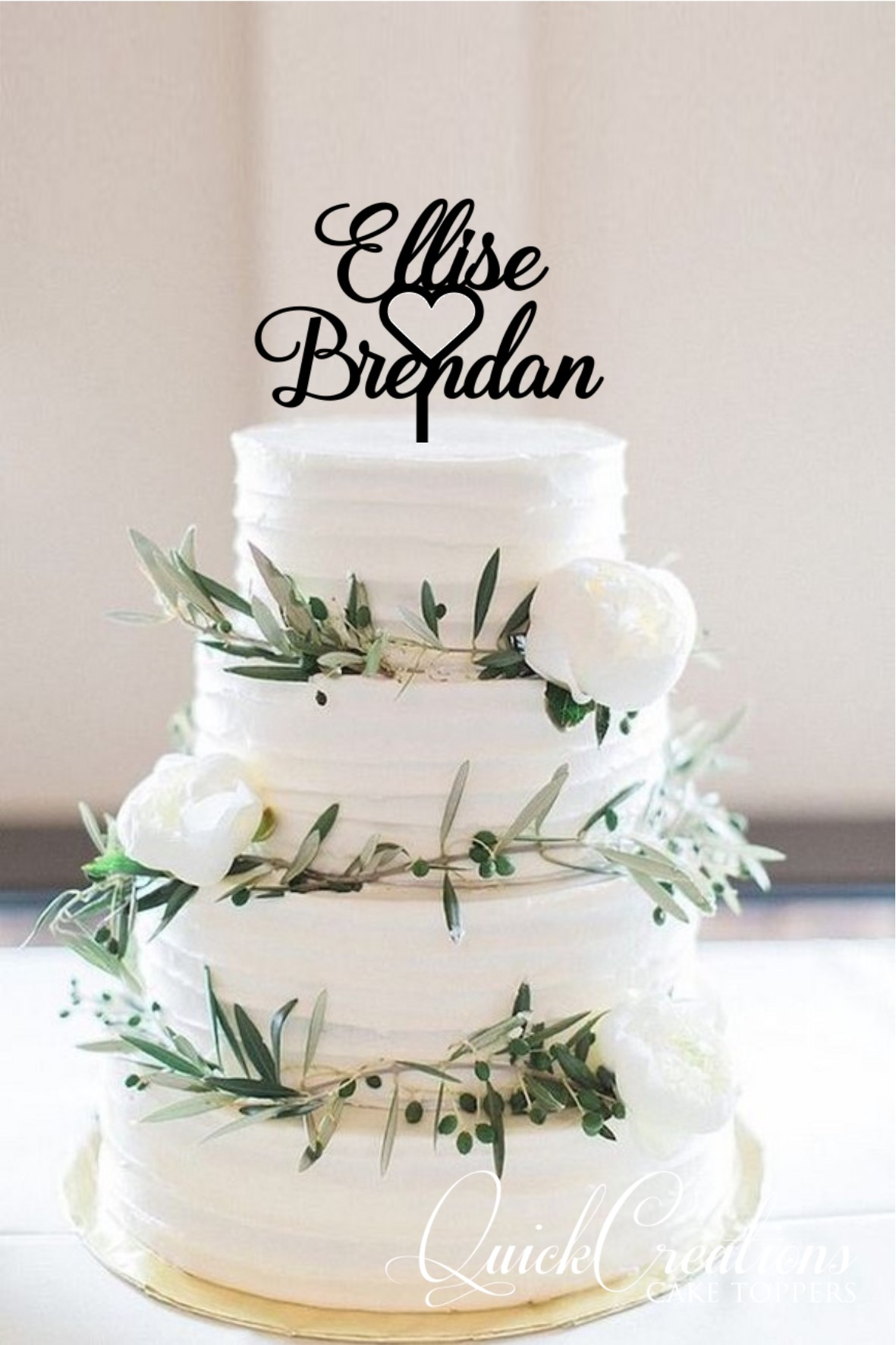 Quick Creations Cake Topper - Eliese & Brendon