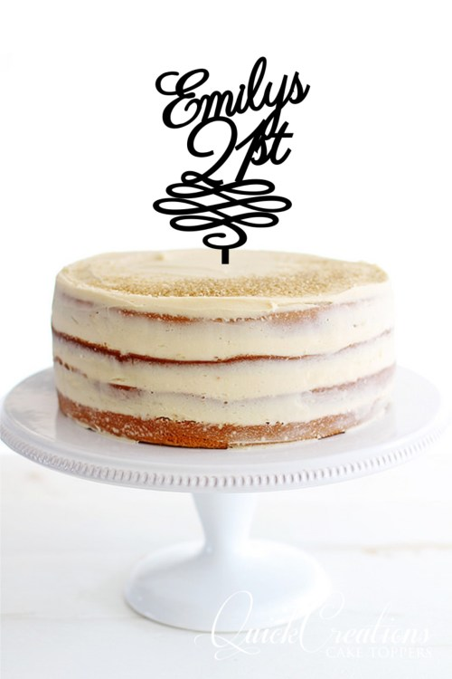 Quick Creations Cake Topper - Emilys 21st Swirl