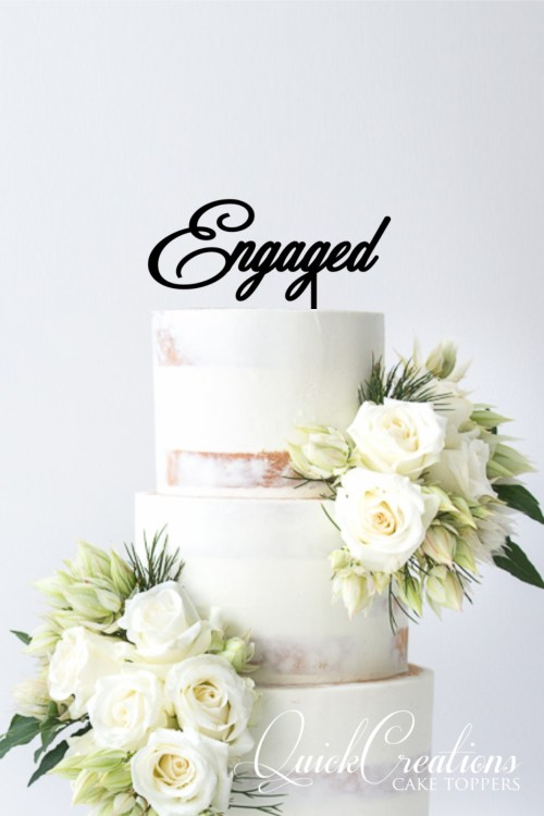 Quick Creations Cake Topper - Engaged