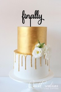 Quick Creations Cake Topper - Finally v2