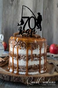 Quick Creations Cake Topper - Fisherman 70 Ivan
