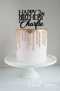 Quick Creations Cake Topper - Happy 2nd Birthday Charlie