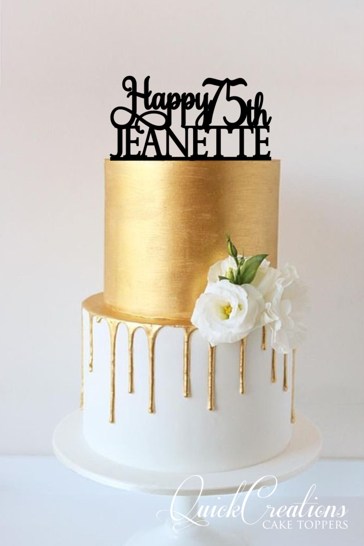 Quick Creations Cake Topper Happy 75th Jeanette