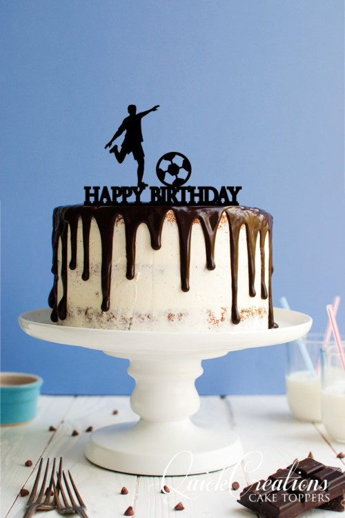 Quick Creations Cake Topper - Happy Birthday Soccer