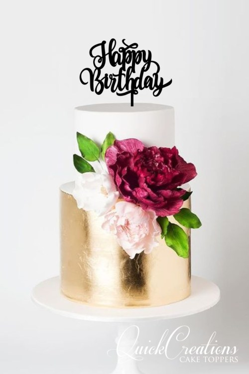 Quick Creations Cake Topper - Happy Birthday v4
