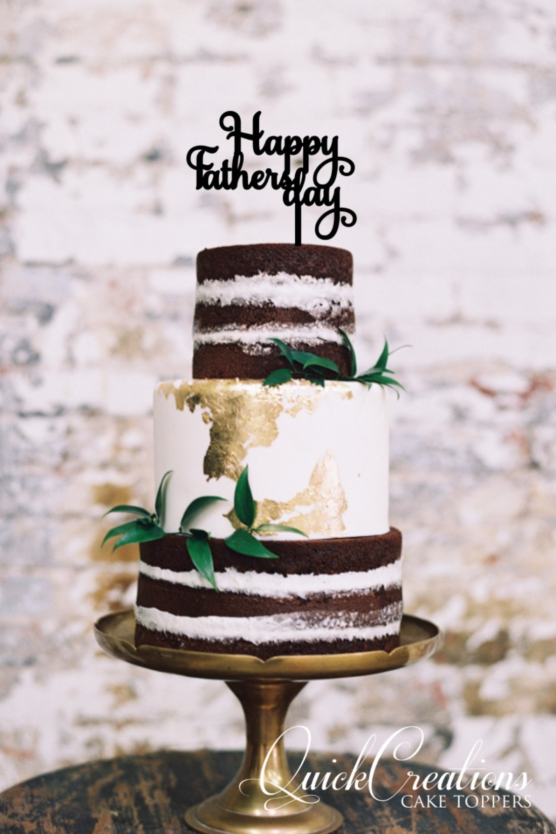Quick Creations Cake Topper - Happy Fathers Day