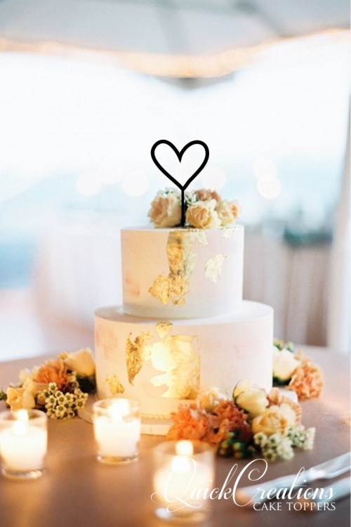 Quick Creations Cake Topper - Heart Outline