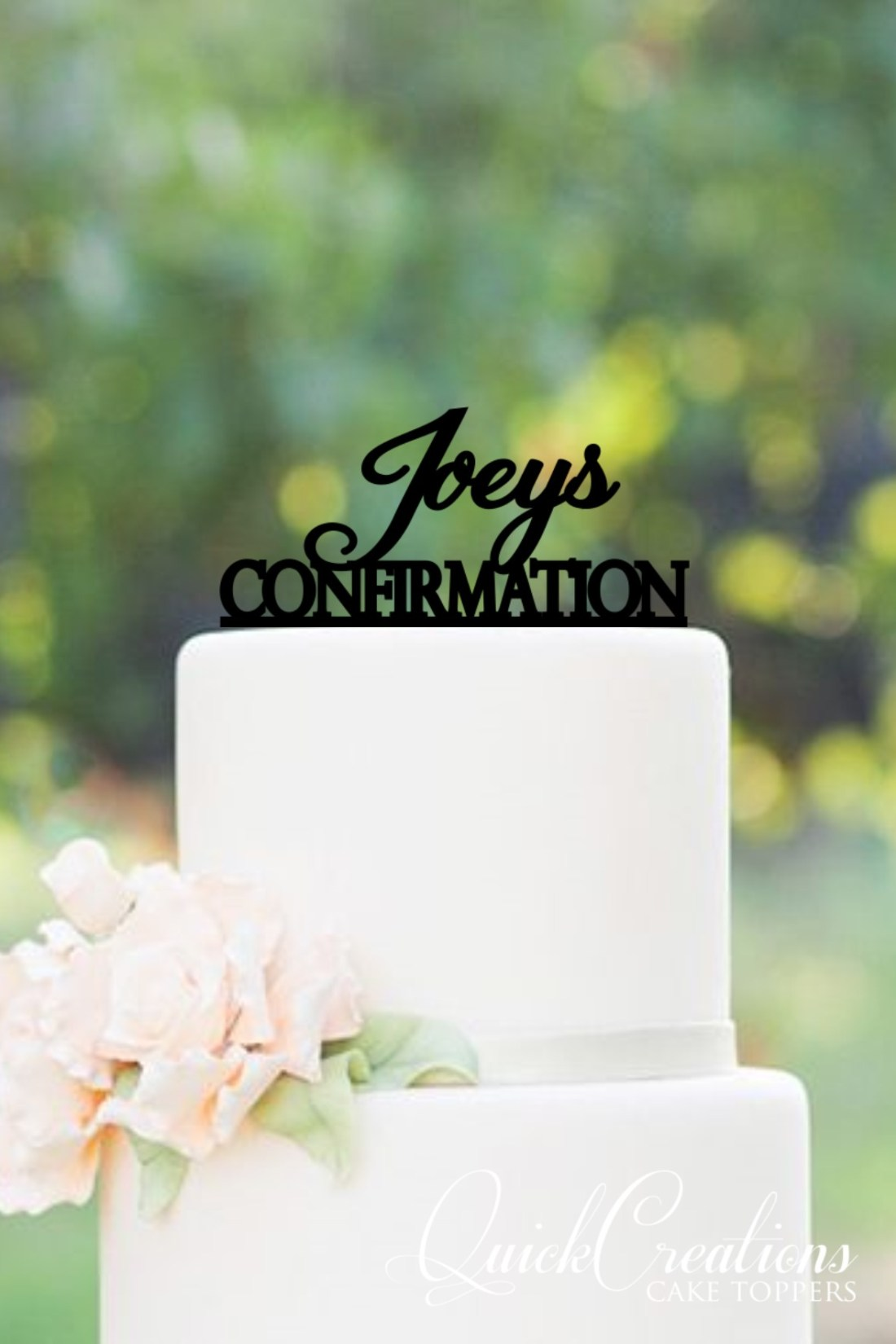 Quick Creations Cake Topper - Joey's Confirmation