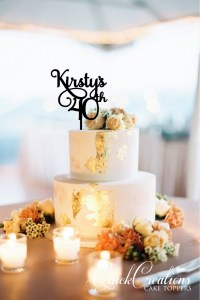 Quick Creations Cake Topper - Kirsty's 40th
