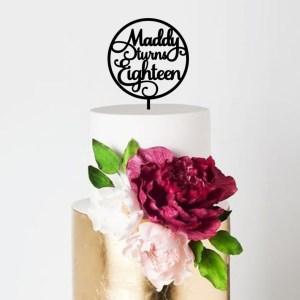 Quick Creations Cake Topper - Maddi Turns Eighteen