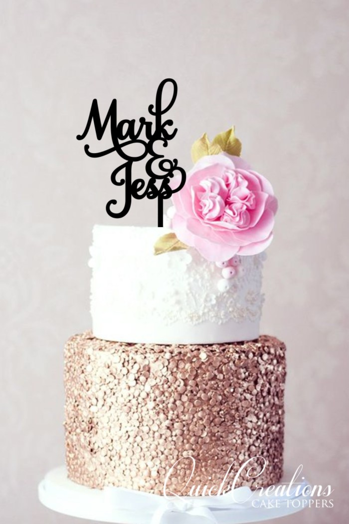 Quick Creations Cake Topper - Mark & Jess