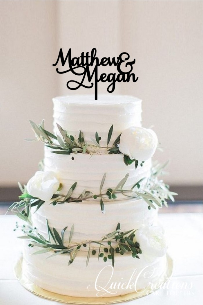 Quick Creations Cake Topper - Matthew & Megan