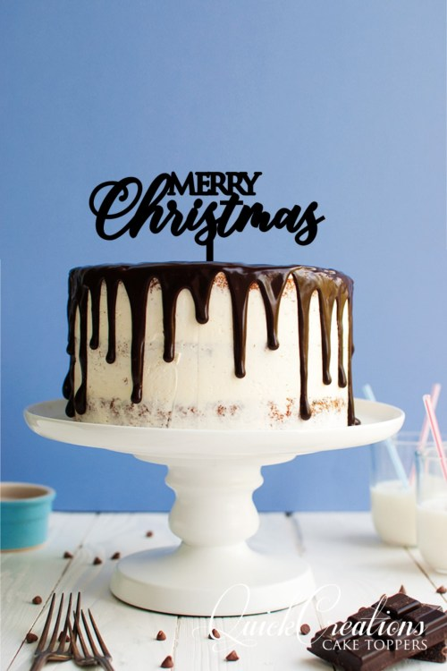 Quick Creations Cake Topper - Merry Christmas v2