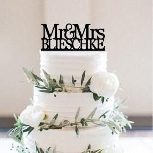 Quick Creations Cake Topper - Mr & Mrs Belishkie