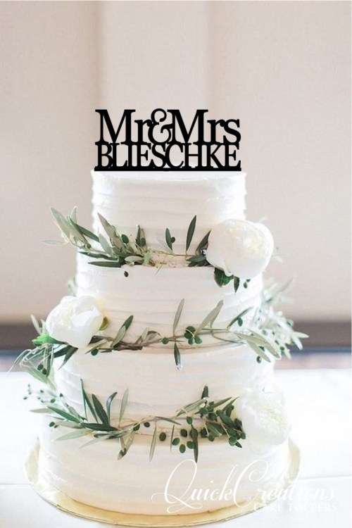 Quick Creations Cake Topper - Mr & Mrs Belishkie