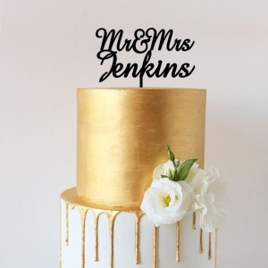 Quick Creations Cake Topper - Mr & Mrs Jenkins