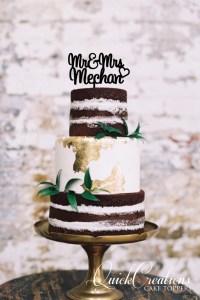 Quick Creations Cake Topper - Mr & Mrs Mechan Heart
