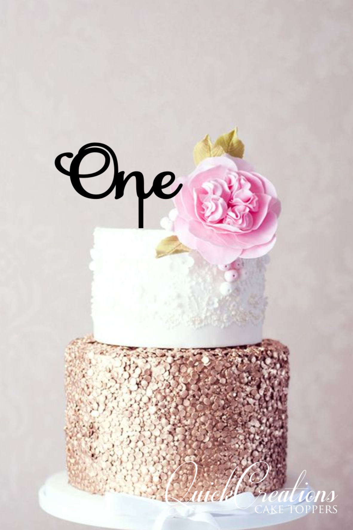 Quick Creations Cake Topper - One v2
