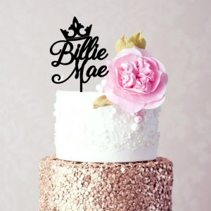 Quick Creations Cake Topper - Princess Crown Billy Mae