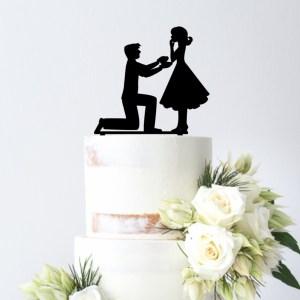 Proposal Image Cake Topper
