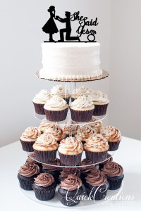 Quick Creations Cake Topper - Proposal Image She Said Yes