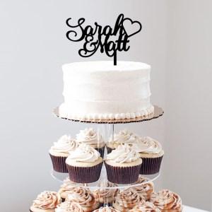 Quick Creations Cake Topper - Sarah & Matt Heart