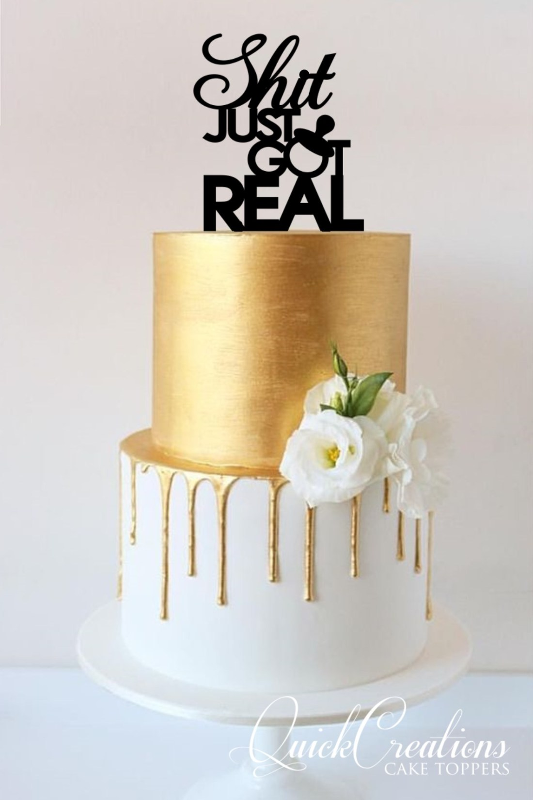 Quick Creations Cake Topper - Shit Just Got Real Dummy