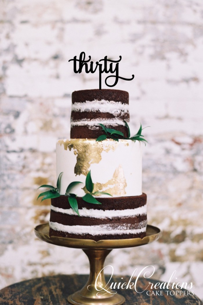 Quick Creations Cake Topper - Thirty v2