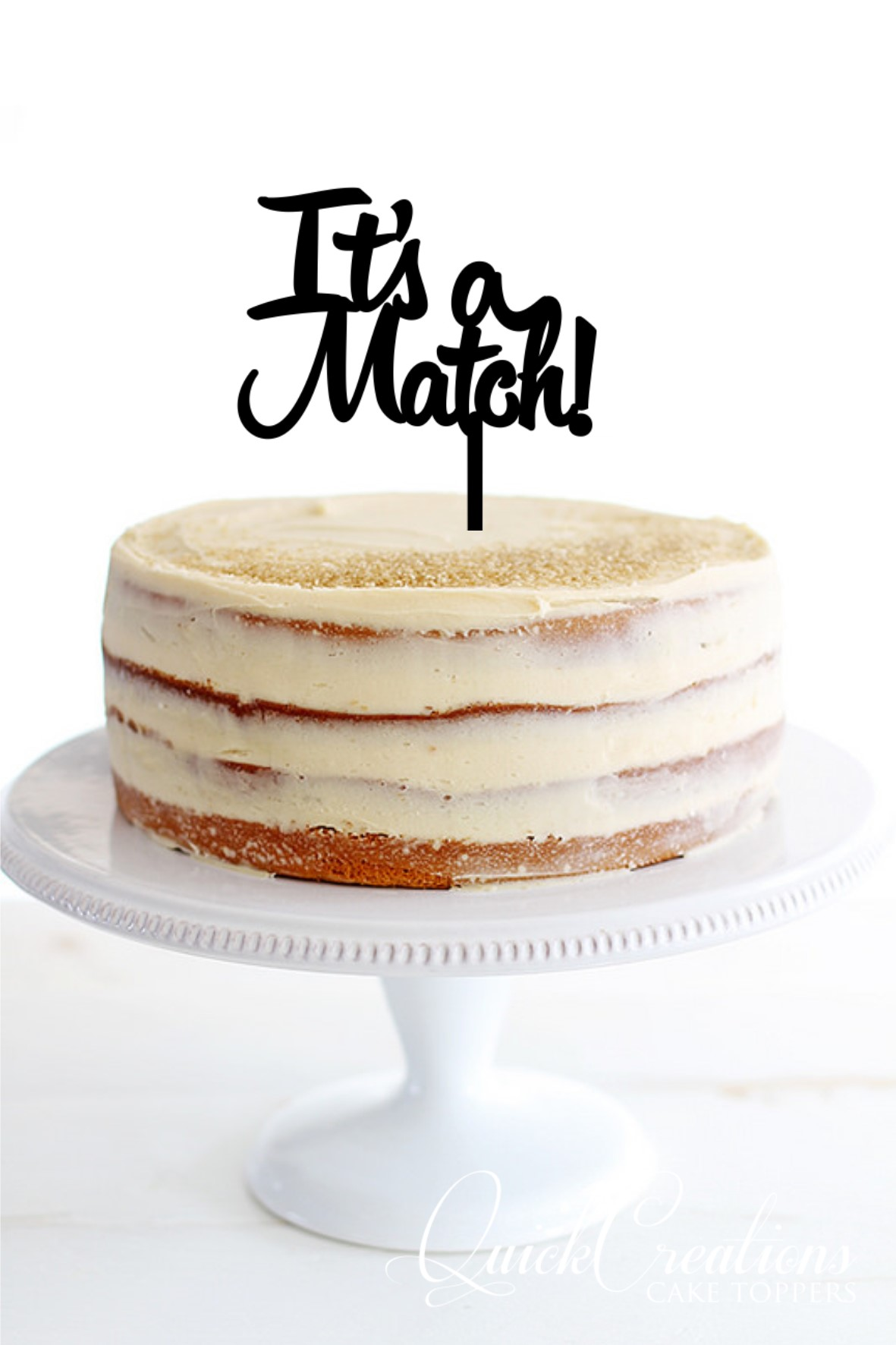 Quick Creations Cake Topper - Tinder Its a Match