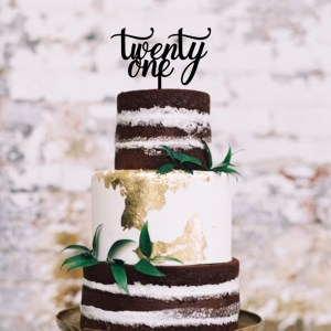 Quick Creations Cake Topper - Twenty One