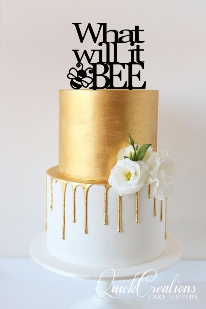 Quick Creations Cake Topper - What Will It BEE