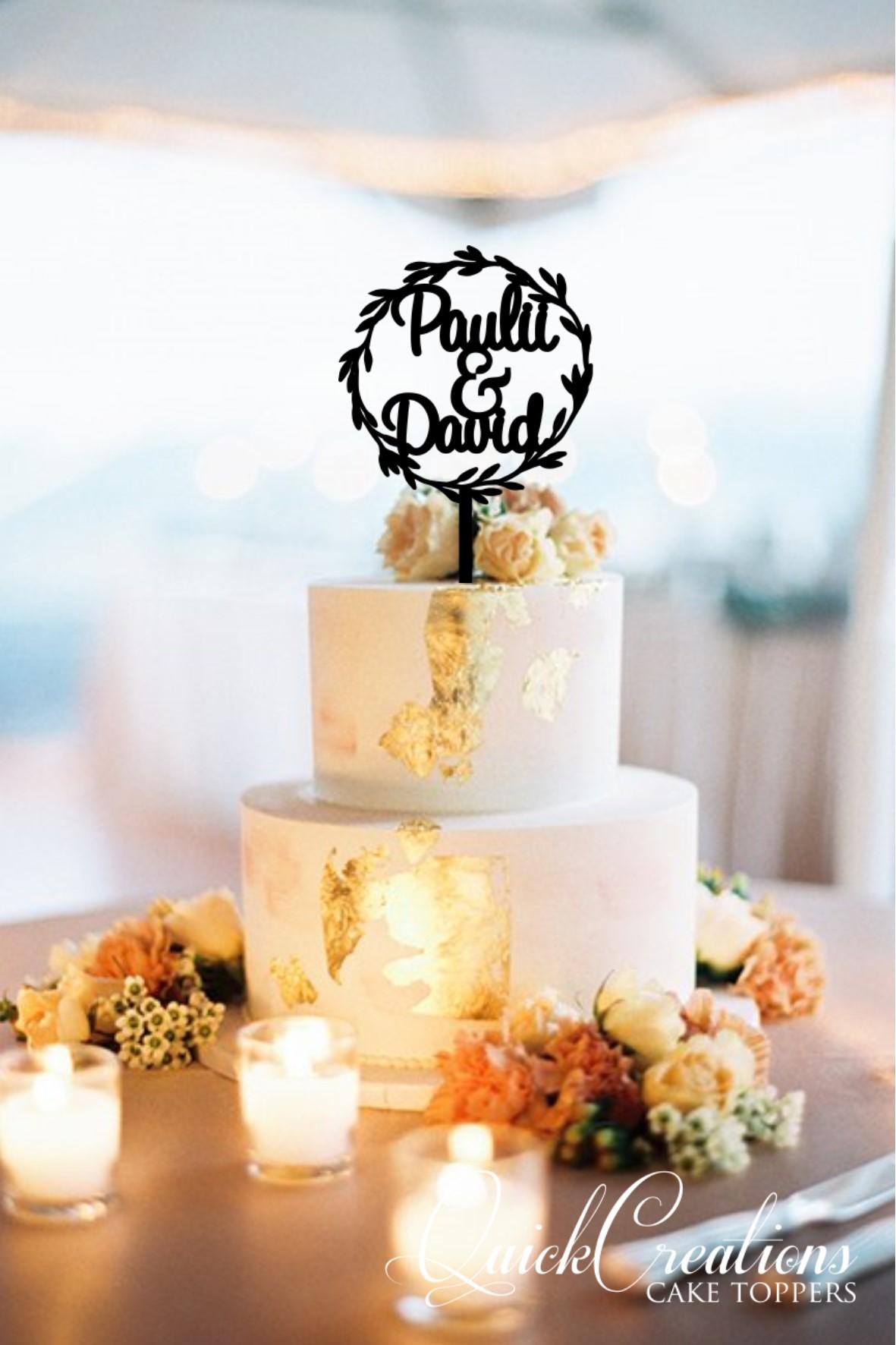Quick Creations Cake Topper - Wreah Paulii & David