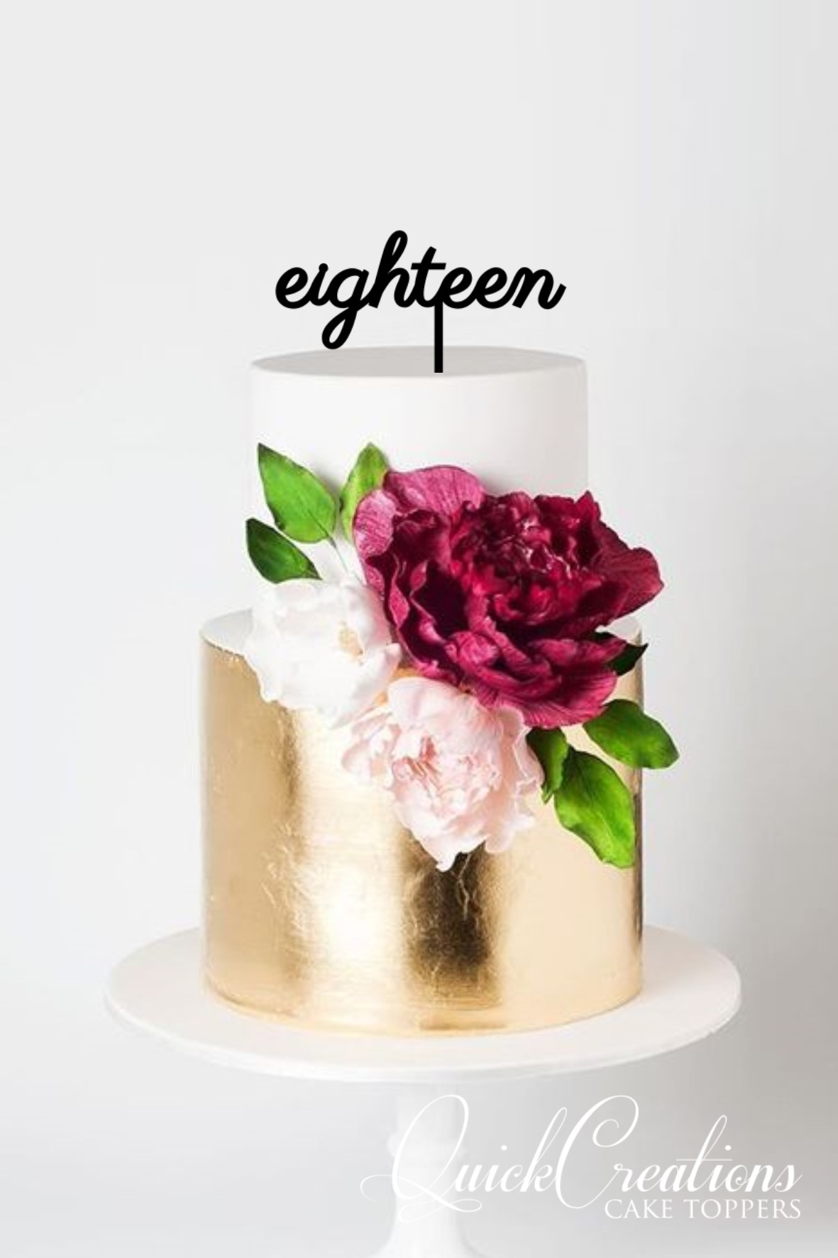 Quick Creations Cake Topper - eighteen v5