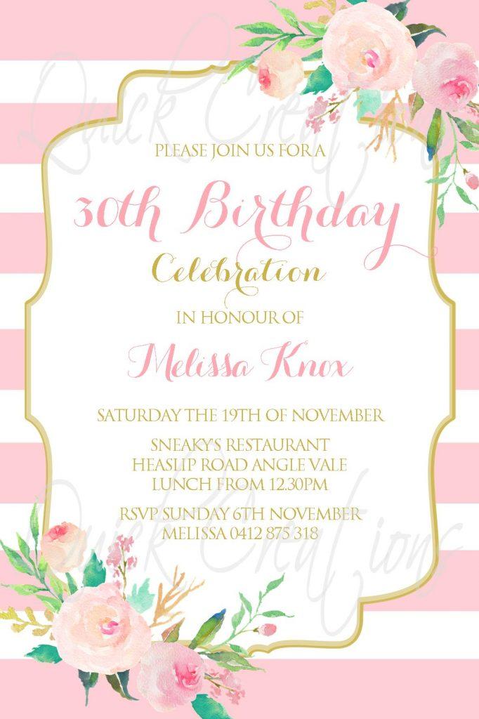 good 30th birthday invitation or 94 30th birthday invitations free