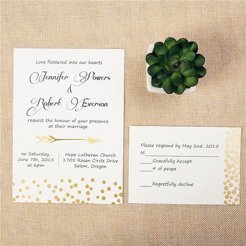 Foil Wedding Invitations.Foil Wedding Invitations Suite Confetti Design