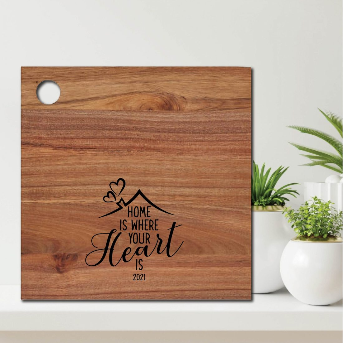 Home is Where your Heart is Real Estate Gift Chopping Board