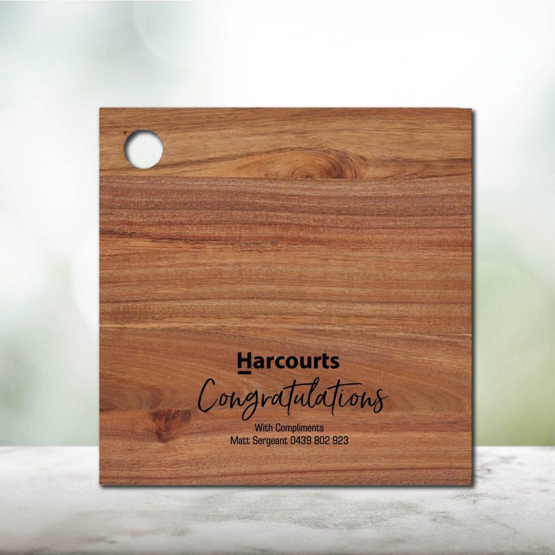 Real Estate Logo & Details Gift Chopping Board