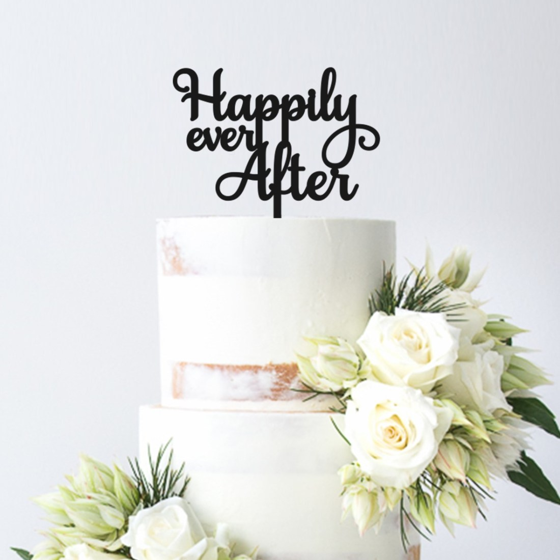 Happily Ever After 2 Cake Topper