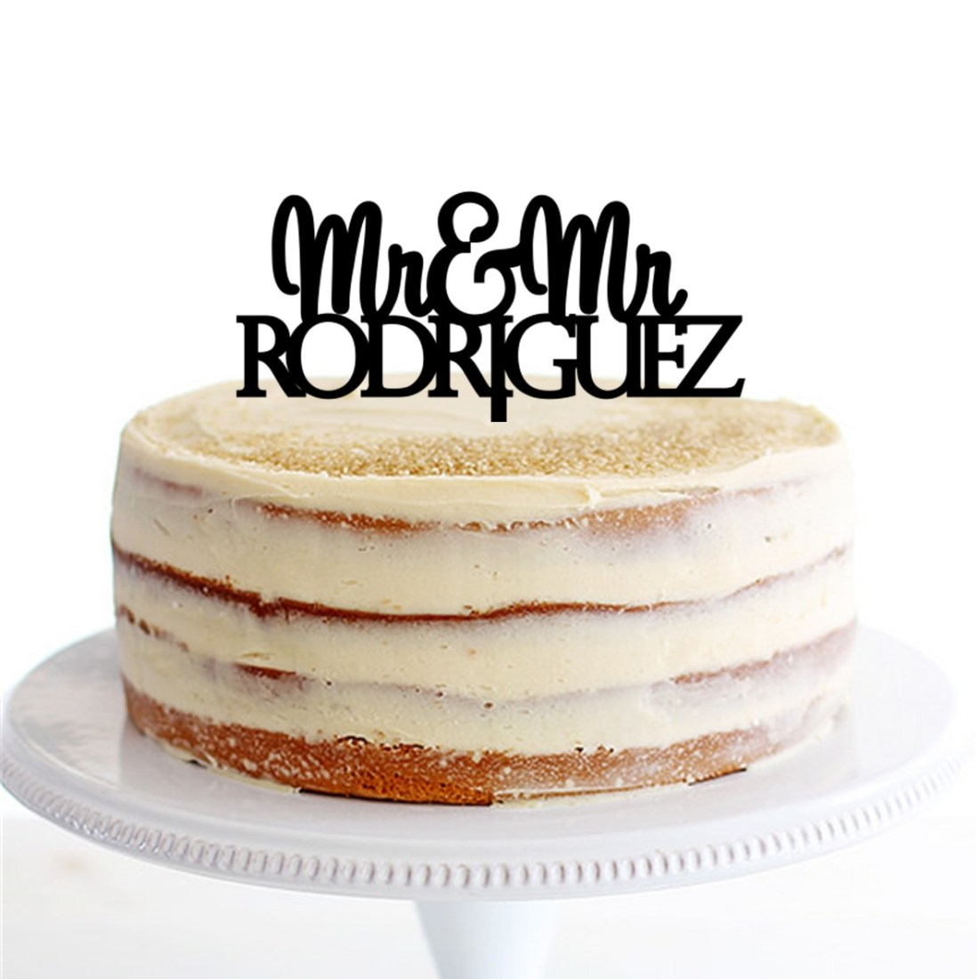Mr & Mrs Personalised Name Cake Topper