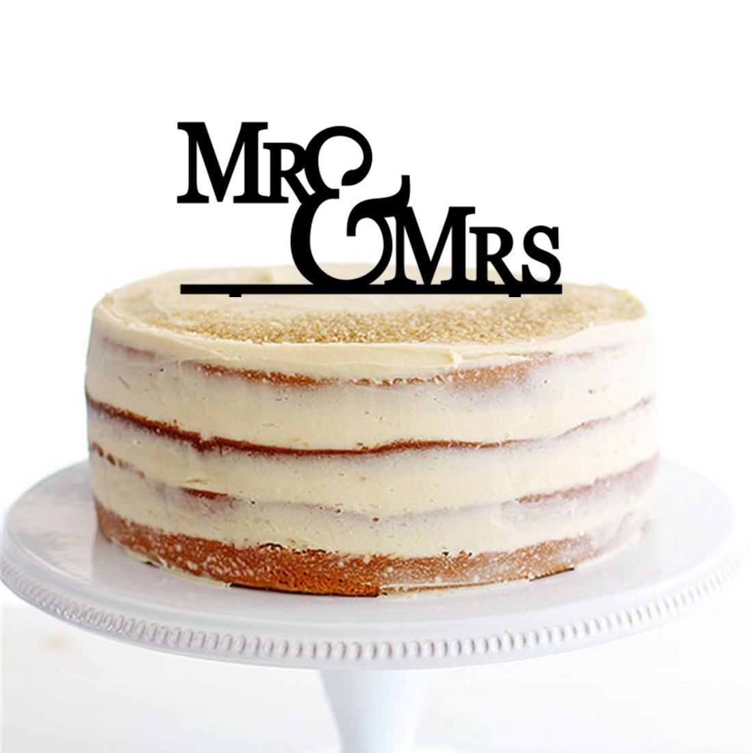Stepped Mr & Mrs Cake Topper