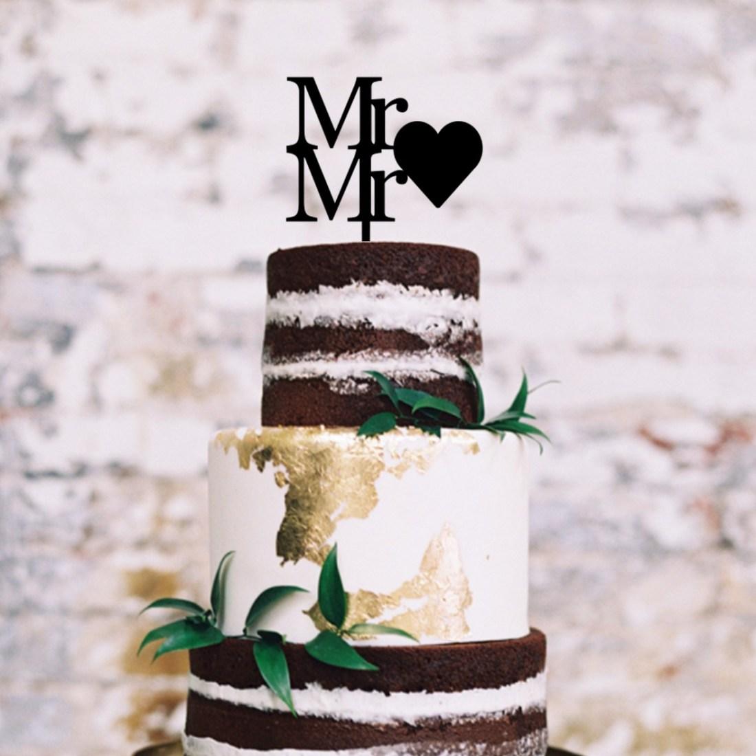 Mr Heart Mr Cake Topper