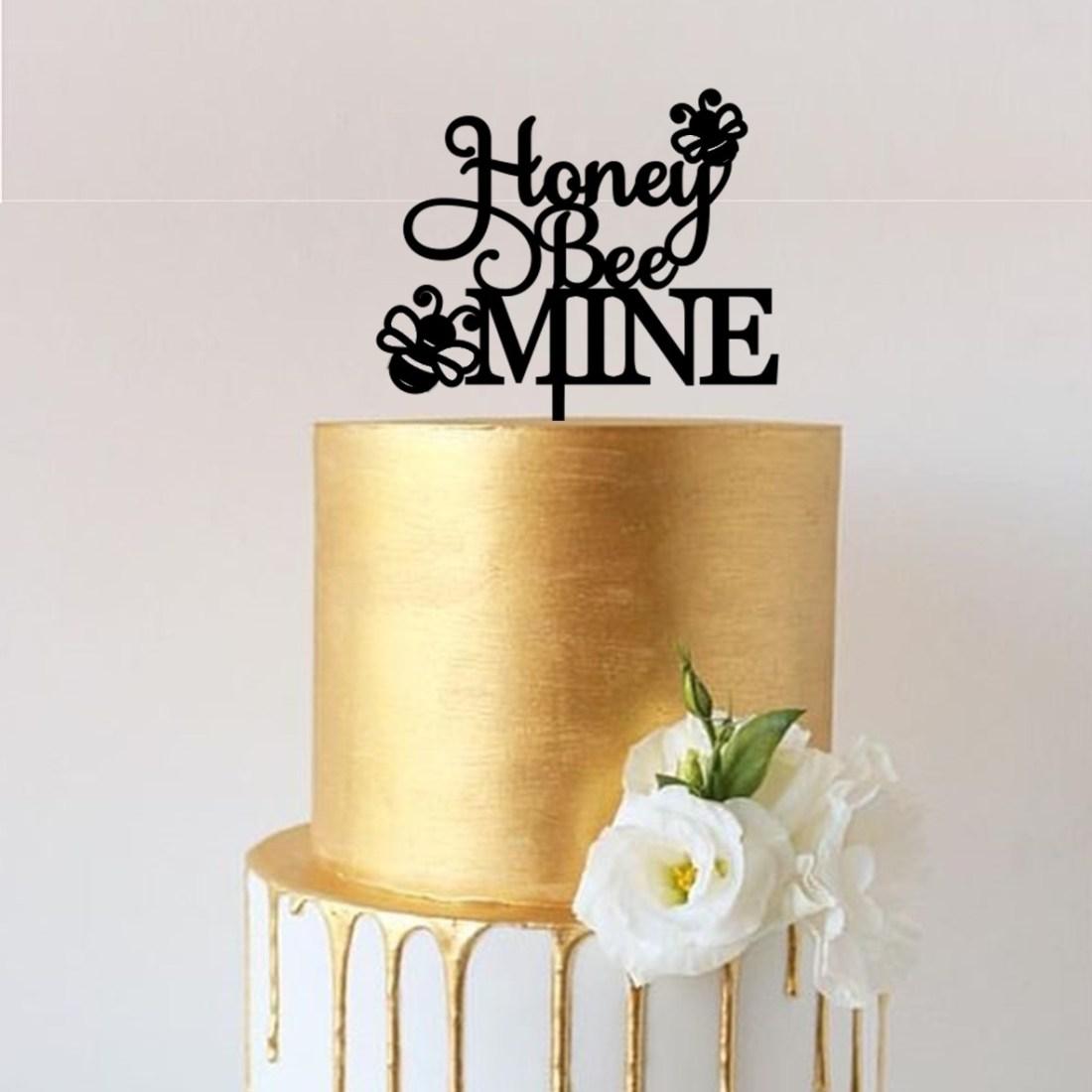 Honey BEE Mine Cake Topper