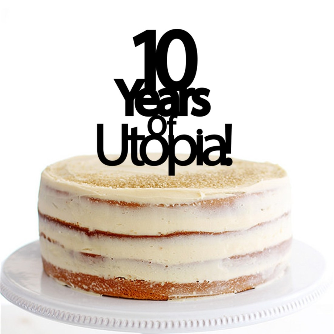 10 Years of Business Cake Topper