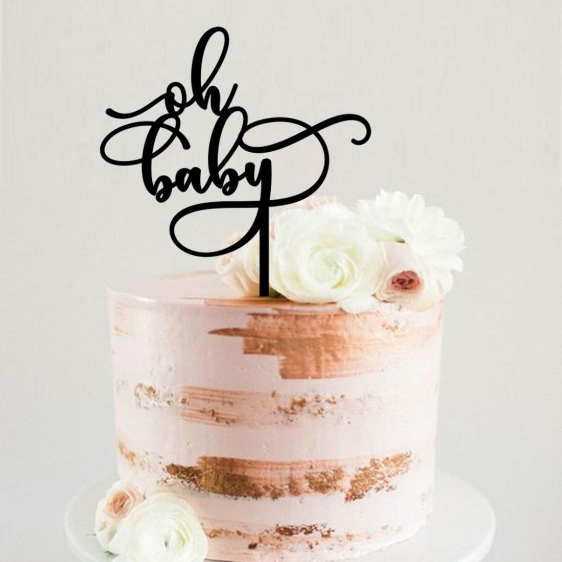 Oh Baby Swirls Cake Topper