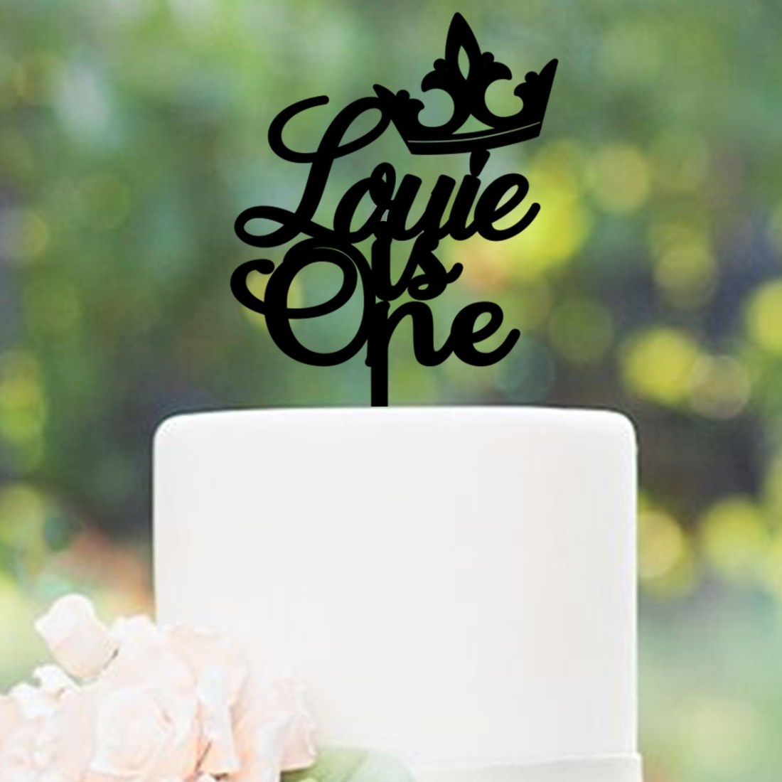 Personalised Crown is One Cake Topper