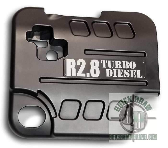 Cummins r2.8 engine cover black silver letter