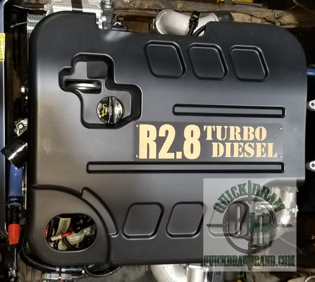 Cummins r2.8 engine cover installed