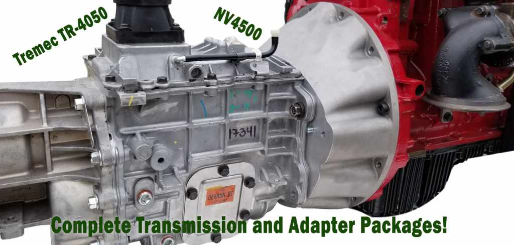 Transmission and adapter packages