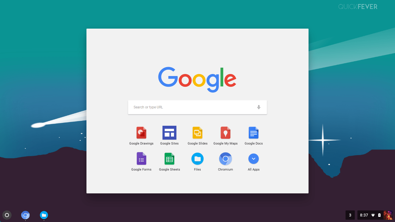 chrome os installed on laptop