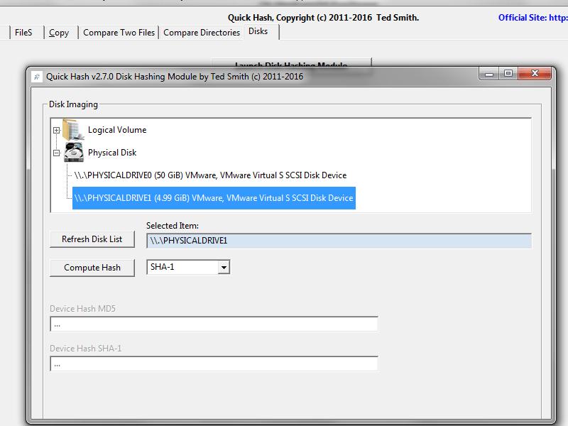 New Disk Hashing interface of Quickhash v2.7.0